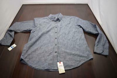 33721 Mens Saltwater Relaxed Blue Shirt XL