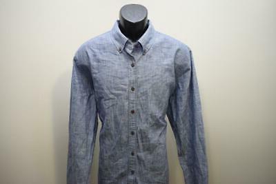 33721 Izod Saltwater Slim Blue Long Sleeve Shirt XL