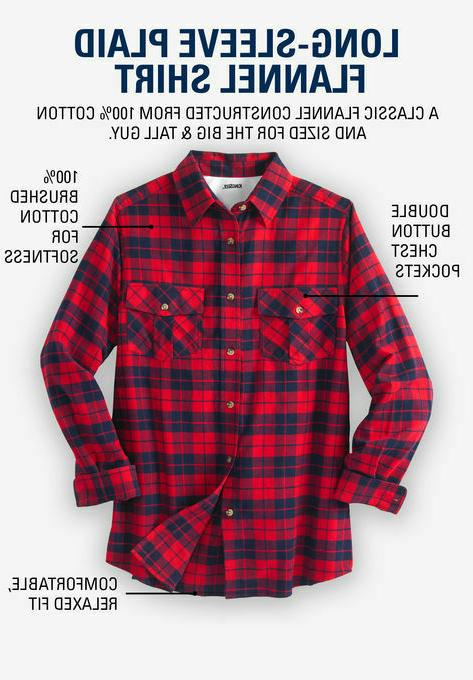 $59 KING SIZE Mens 5XL Raisin Plaid Shirt