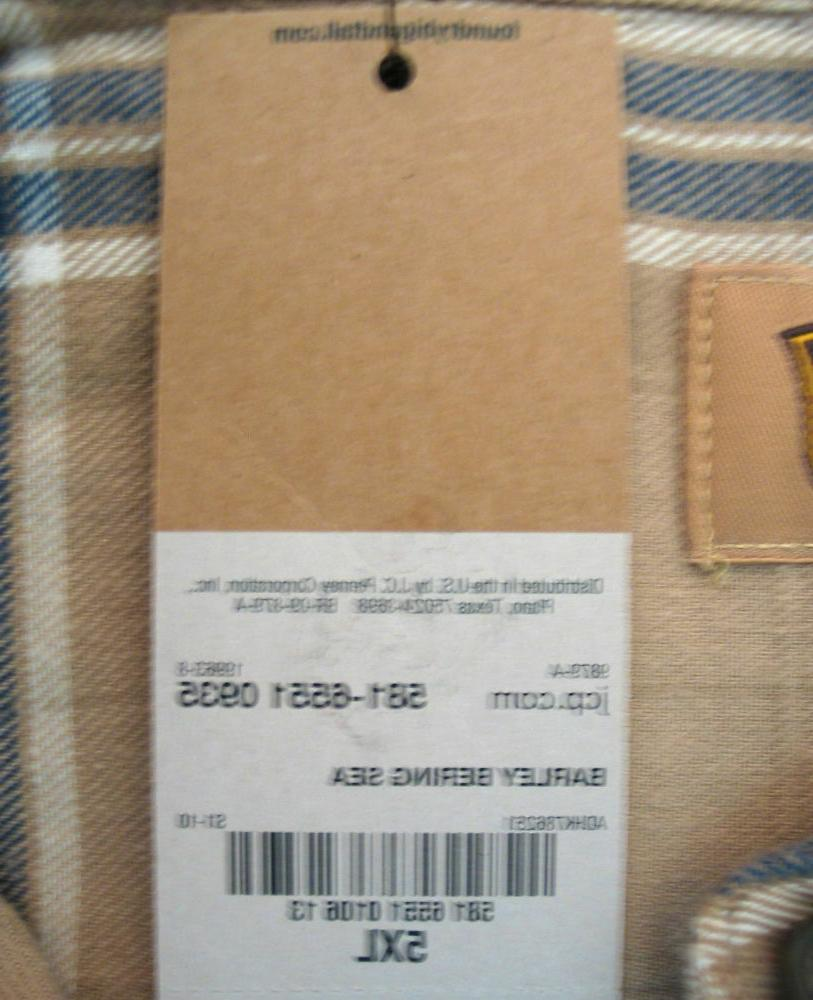 5XL Flannel Men's Supply Bering Sea Color-NWT-Big Tall
