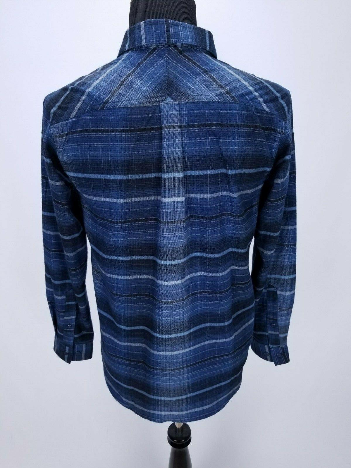 Flannel Shirt SMALL Front Striped