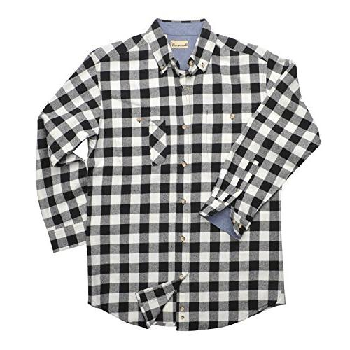 Backpacker Yarn Dyed Flannel Shirt, Black/White, Small