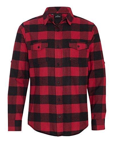 Burnside Flannel Shirt.B8210 X-Large Red / Black