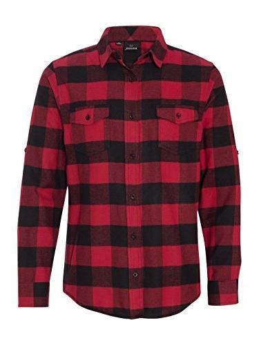 Burnside Yarn-Dyed Long Sleeve Flannel Shirt.B8210 X-Large R