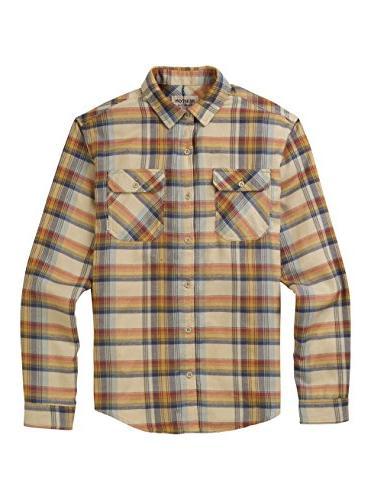Burton Brighton Flannel Shirt, Safari Stella Plaid, Small