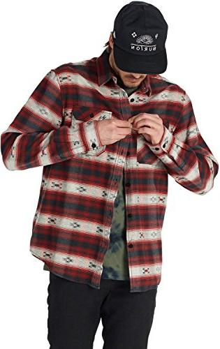 Burton Men's Flannel Top, Brick Azrek,