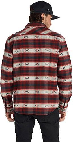 Burton Burly Flannel Top, Fired Azrek, X-Large