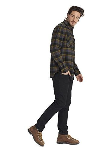 Burton Flannel Down Shirt, Olive Hawthorn, Medium