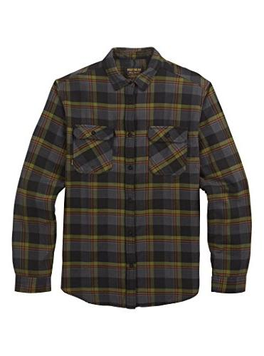 Burton Men's Brighton Flannel Down Shirt, Olive Branch Hawth