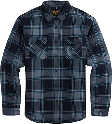 Burton Men's Brighton Insulated Flannel Top, Eclipse Rowan P
