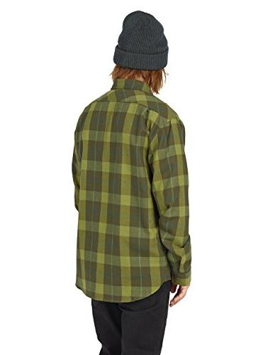 Burton Men's Flannel Top, Forest Night Boxelder, Large
