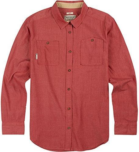 Burton Men's Glade Long Sleeve Shirt, Large, Brick Red Chamb