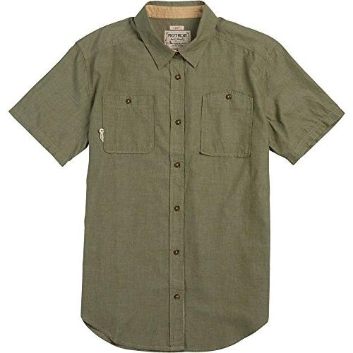 Burton Men's Glade Short Sleeve Shirt, Medium, Olive Night C