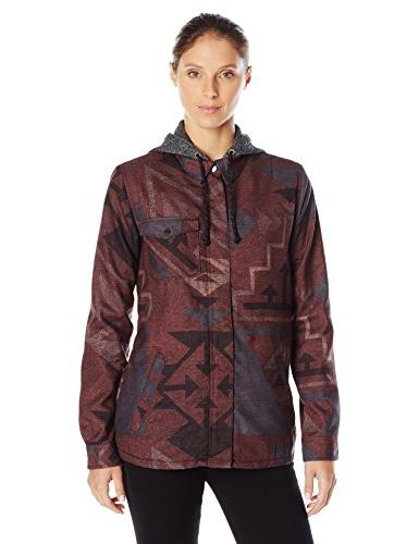 Burton Women's Calla Long Sleeve Woven, Canyon Print, Small