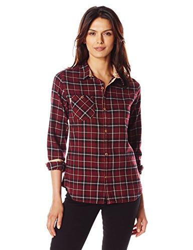 Burton Women's Grace Long Sleeve Woven Shirt, Sangria Haze P