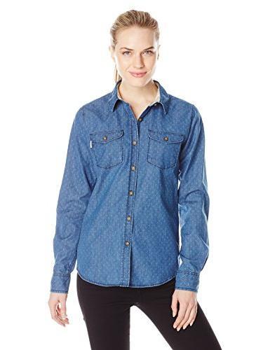 Burton Women's Shepard Long Sleeve Woven Shirt, Triple Dot C