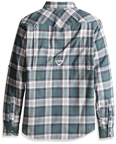 Columbia Flannel Sleeve Shirt, Pond Plaid, Small