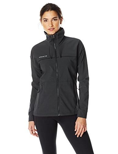 Columbia Women's Angel Basin Soft Shell, Black Heather, Smal