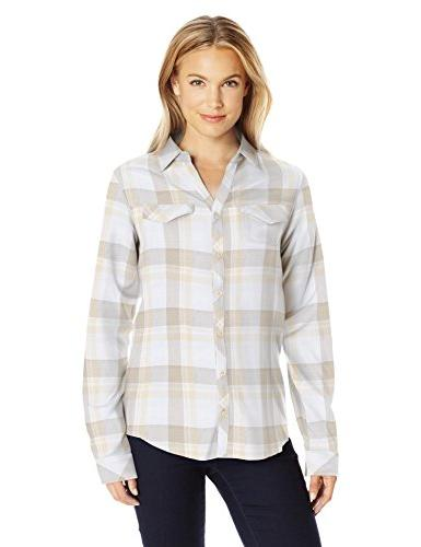 Columbia Women's Simply Put Ii Flannel Shirt, Chalk Open Gro