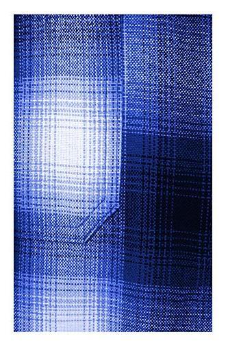 Guytalk Regular-Fit Short-Sleeve Plaid Western 4XL ROYALBLUE