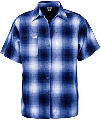 Guytalk Men's Regular-Fit Short-Sleeve Plaid Western Flannel