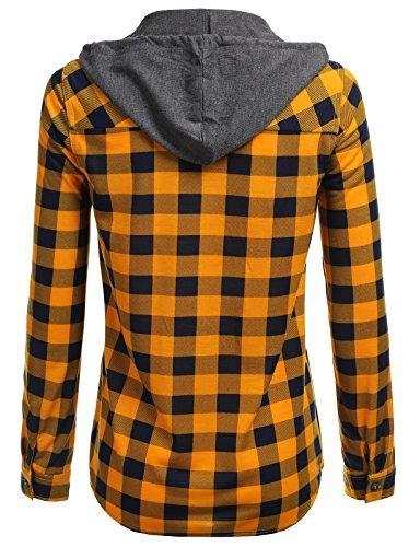 H2H Plaid Checker Down Roll Sleeves US M/Asia M