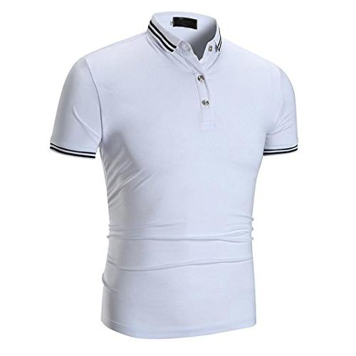 Misaky Men Summer Classice Short Sleeve T-shirt Top Golf Shi