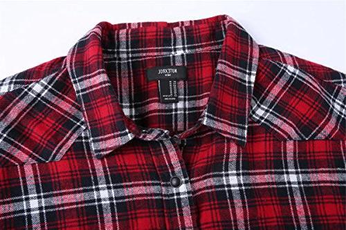 NUTEXROL Plaid Shirt Plus Size