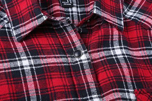 NUTEXROL Plaid Shirt Plus Vest