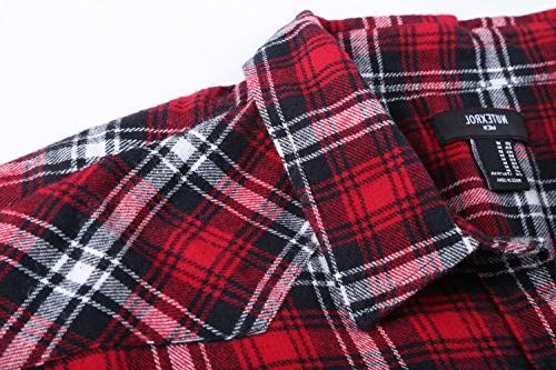 NUTEXROL Casual Plaid Sleeveless Cotton Plus Vest