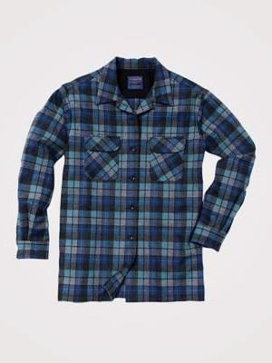 Pendleton Men's Long Sleeve Fitted Board Shirt, Blue/Green O