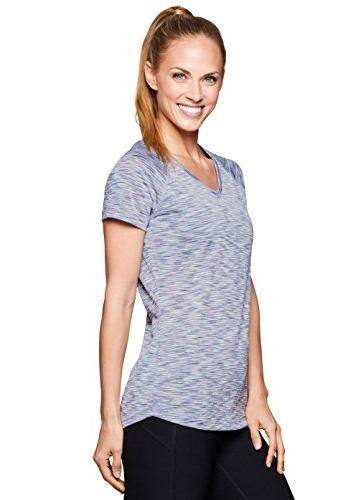 RBX Active Short Sleeve Yoga Workout Shirt Spring Lavender L