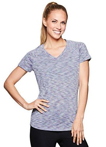 RBX Active Women's Short Sleeve Yoga Workout Shirt Spring La