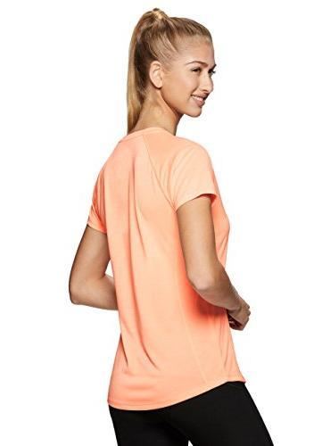 RBX Active Dye V-Neck Sleeve Top Orange