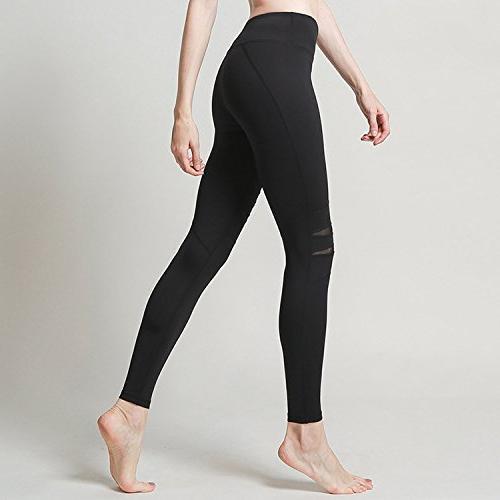 Summer-lavender Female Hole Tight Pants Pants Sports Trousers,White,L