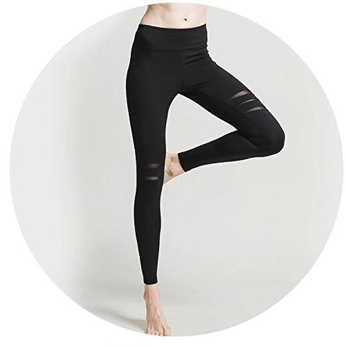 Summer-lavender Hole mesh Training Tight Running Feet Pants Sports