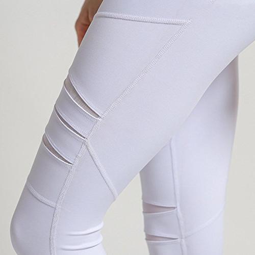 Summer-lavender Yoga Hole Training Tight Pants Pants Trousers,White,L