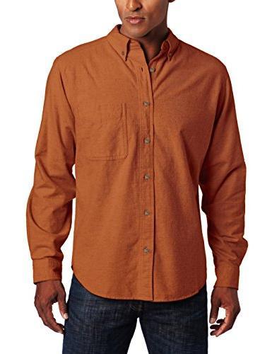 Woolrich Men's Sportsman Chamois Shirt, Persimmon Heather, S