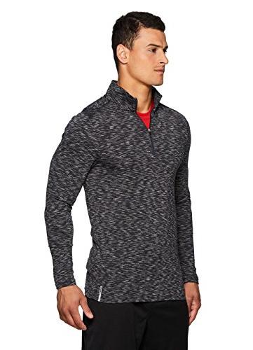 RBX 1/4 Fitted Sleeve Workout Top L