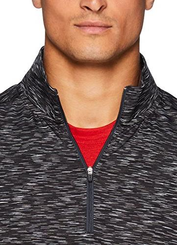 RBX Active 1/4 Zip Fitted Sleeve Workout Top Charcoal
