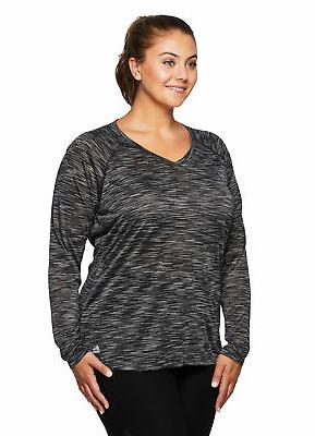 RBX Active Women's Plus Size Sleeve V-Neck