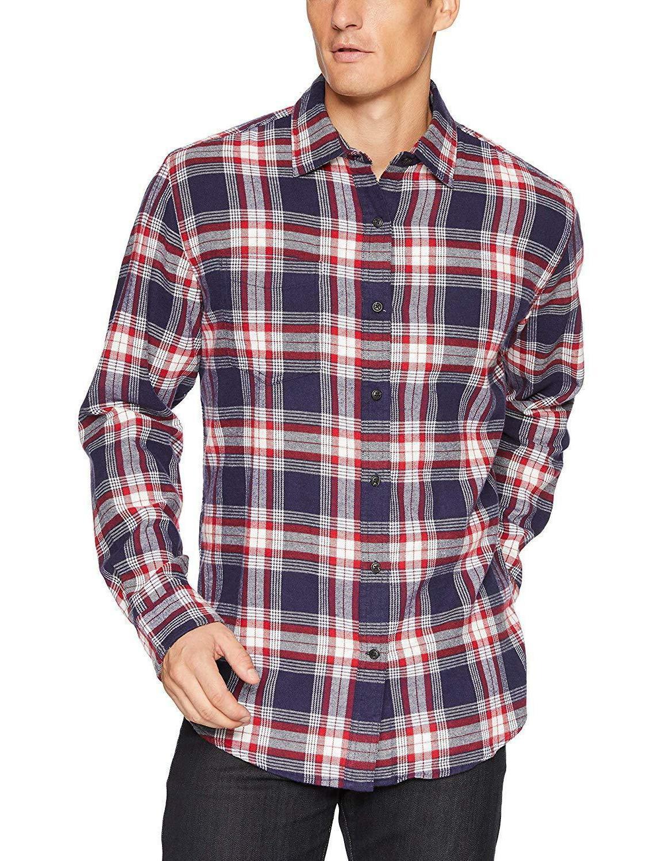 Amazon Essentials Men's Regular-Fit Long-Sleeve Plaid Flannel