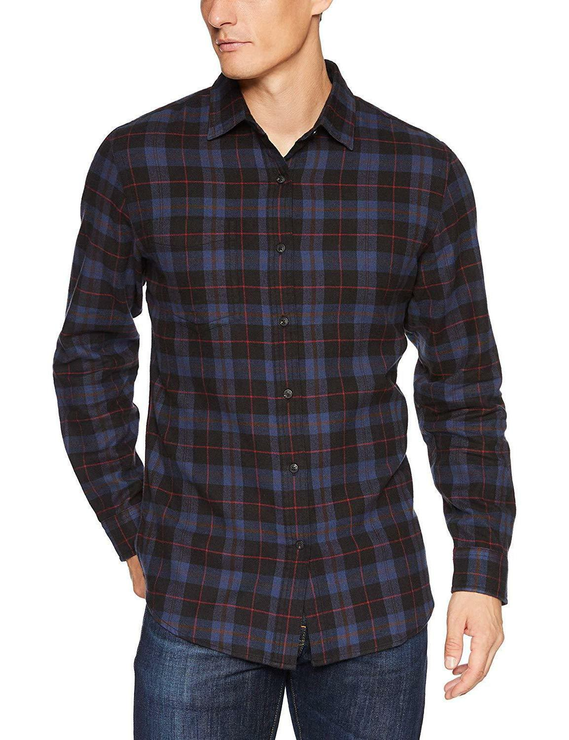 Amazon Essentials Long-Sleeve Plaid