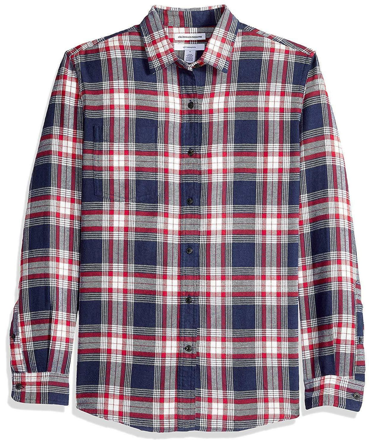 Amazon Long-Sleeve Plaid Flannel