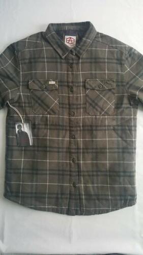 RVCA Reynolds Flannel Shirt Large