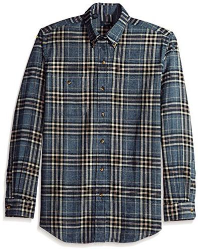 arrow men s saranac flannel long sleeve