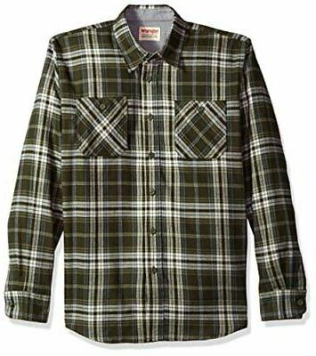authentics men s long sleeve flannel shirt