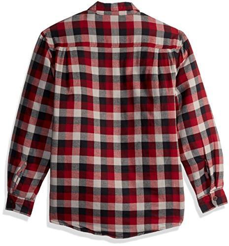 Wrangler Authentics Men's Sleeve Sherpa Flannel Shirt tri