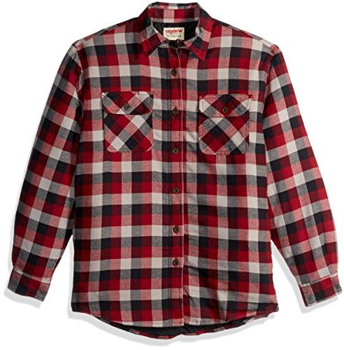 Wrangler Authentics Men's Long Sleeve Sherpa Lined Flannel S