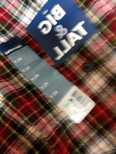 Soft Flannel Shirt Men's XLT Tall Pocket